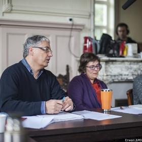 Frédéric Olivier, Pr Gesche Winkler, Emmanuelle Hascoet. Photo Erwan Amice